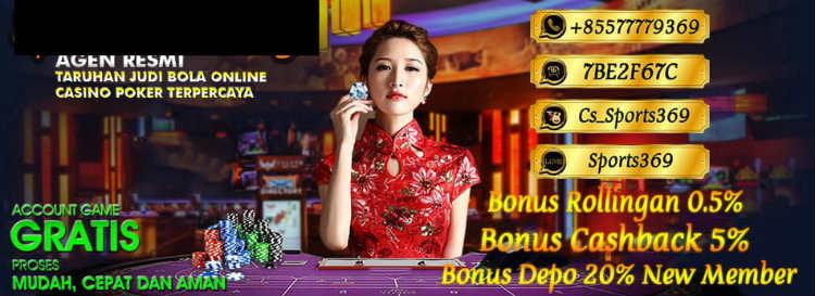 bonus dari pendaftaran akun casino online resmi sbobet
